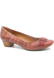 Sapato Jorge Bischoff Scarpin Em Couro Vermelho