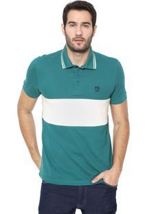 Camisa Polo Mr Kitsch Reta Teal Verde