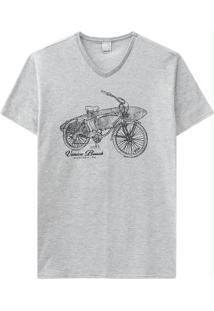 Camiseta Mescla/Cinza Malwee
