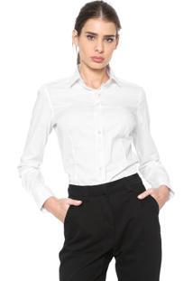 Camisa Dudalina Stretch Off-White