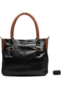 Bolsa Em Couro Recuo Fashion Bag Sacola Caramelo