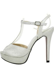 Sandália Festa Week Shoes Glitter Prata
