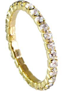 Anel Le Diamond Nobre Com Zircônia Marrom