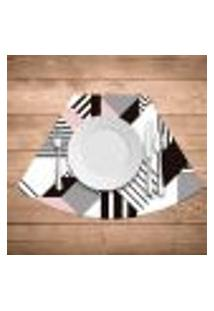 Jogo Americano Para Mesa Redonda Wevans Geométric Kit Com 6 Pçs