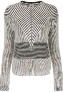 Rick Owens Suéter Com Gola Arredondada - Neutro