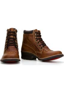 Bota Country Capelli Boots Em Couro Com Recortes Masculino - Masculino