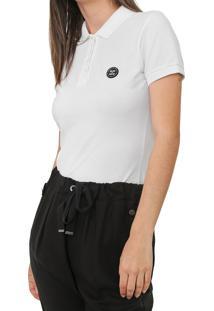 Camisa Polo Colcci Lisa Off-White - Off White - Feminino - Algodã£O - Dafiti