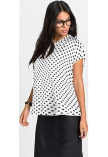 Blusa Box Estampada Off White