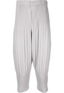 Homme Plissé Issey Miyake Basic Pleated Trousers - Cinza