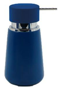 Porta Sabonete Líquido De Bancada Em Resina Azul Sky Blue Coisas E Coisinhas