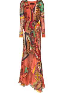 Etro Vestido Longo Com Padronagem - Rosa