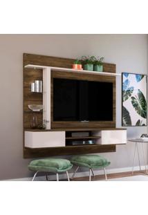 Painel Para Tv Até 60 Polegadas Salinas Canela E Off White