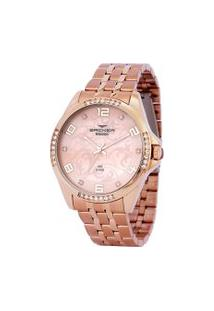 Relógio Analógico Backer Feminino - 3944113F Rosê