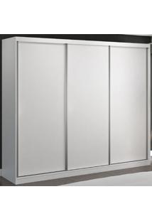 Guarda-Roupa Casal 3 Portas De Correr 100% Mdf 8806 Branco - Foscarini