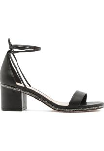 Sandália Block Heel Rock Glam Black | Schutz