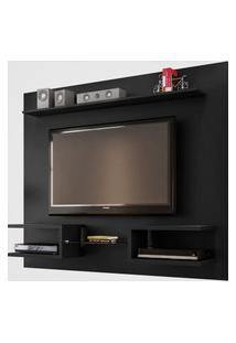 Painel Atlas P/ Tv Até 55 Pol Preto Fosco Móveis Bechara