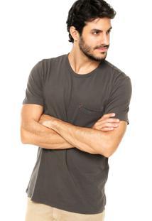 Camiseta Levis Estampada Cinza