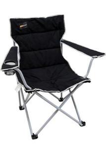 Cadeira Dobrável Nautika Boni Com Porta Copo - Unissex-Preto