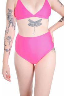 Calcinha Hot Pants Rosa Neon