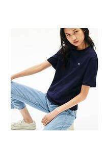 Camiseta Lacoste Regular Fit Azul