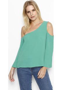 Blusa Lisa Ombro Vazado - Verde - Moisellemoisele