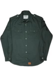 Camisa Militar Linoleum Havana Verde
