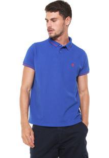 Camisa Polo Timberland Slim Tbl 4 Stripes Super Azul