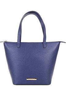 Bolsa Loucos & Santos Shopper Clássica Feminina - Feminino-Azul