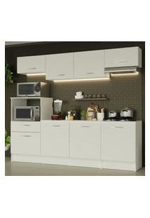 Cozinha Completa Madesa Onix 240001 Com Armário E Balcáo - Branco Branco