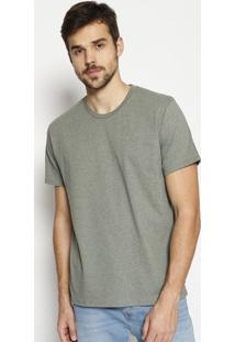 Camiseta Lisa Mescla- Verde Escurolevis