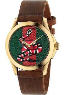 Relógio Gucci Feminino Couro Marrom - Ya1264012