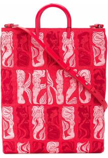 Kenzo Bolsa Tote Mermaids - Vermelho