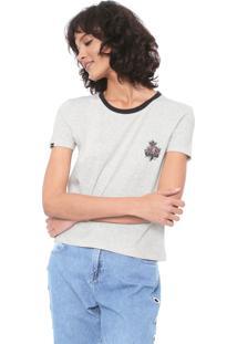 Camiseta Rusty Rose Cinza