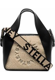 Stella Mccartney Bolsa Eco Com Pelos - Preto