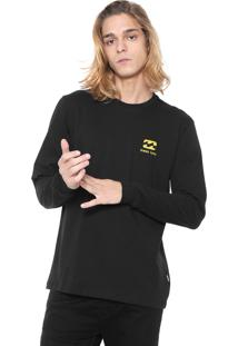 Camiseta Billabong Free 73 Preta