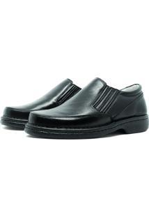 Sapato Di Ferutti Conforto Em Couro Preto 310