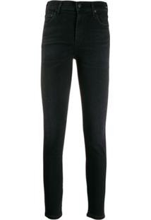 Citizens Of Humanity Calça Jeans Skinny Cropped - Preto