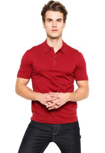 Camisa Polo Lacoste Regular Fit Básica Vinho