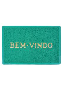 Tapete Capacho Vinil Verde 40Cm X 60Cm
