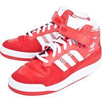 e78c63bf96f29f Tênis Adidas Originals Forum Mid Vermelho