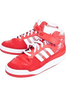 Tênis Adidas Originals Forum Mid Vermelho
