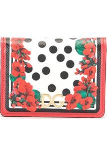 Dolce & Gabbana Carteira Floral - Vermelho