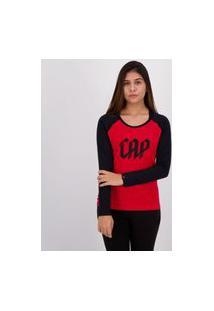 Camiseta Athletico Paranaense Manga Longa Feminina Vermelha