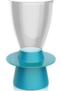 Banco | Banqueta Tin Policarbonato Cristal E Azul I'M In
