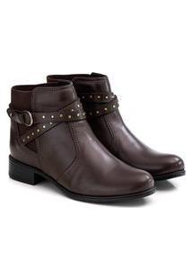 Bota Feminina Comfortflex Ankle Boot Multicolorido