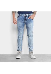 Calça Jeans Skinny Gangster Marmorizada Masculina - Masculino