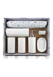 Kit De Banheiro Completo De 7 Peças Jacki Design Cozy Bege