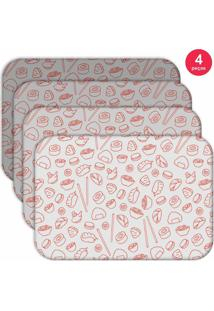 Jogo Americano Love Decor Wevans Sketches Oriental Kit Com 4 Pçs