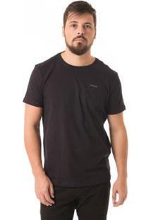 Camiseta Osmoze Diferenciada Gola - Masculino-Preto