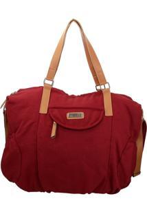 Bolsa Moletom Vermelha Com Caramelo Retta Shoes - Vermelho - Feminino - Dafiti